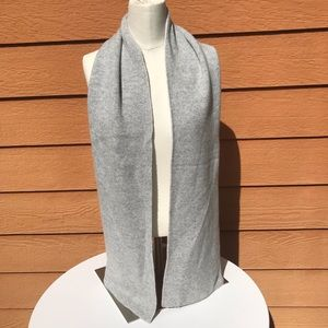J Crew Collection 100% cashmere reversible scarf
